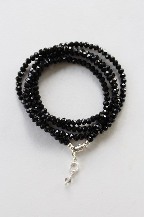 Black Quad Wrap Bracelet/Necklace