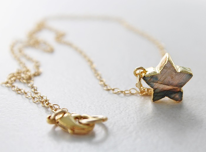 Petite Labradorite Star Necklace - The Christmas Star Necklace
