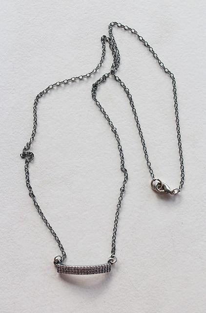 CZ Bar Necklace - The Chrissie Necklace