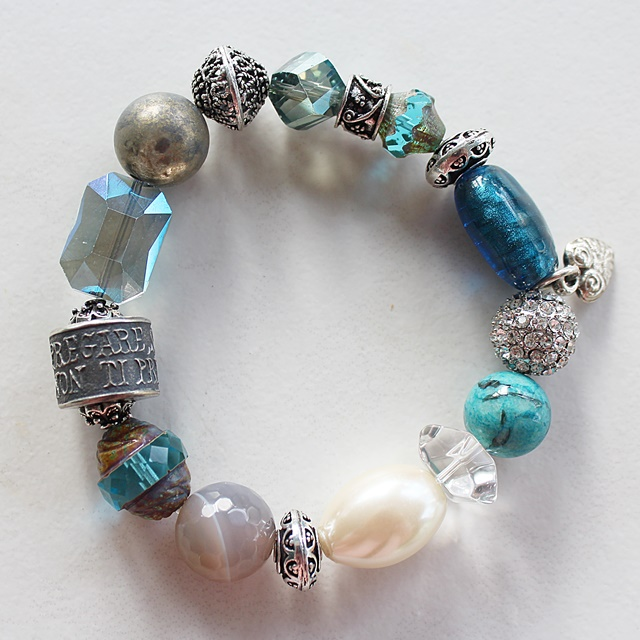 Mixed Glass and Anne Choi Barrel Bead Bracelet - The Pregare Bracelet