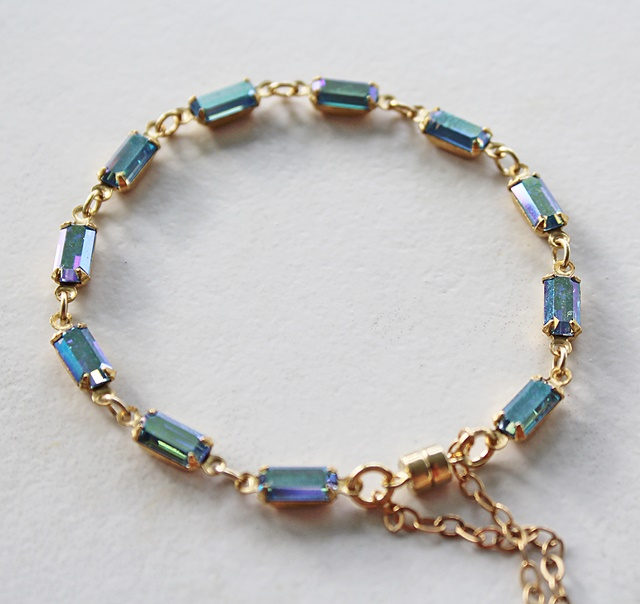 Vintage Glass Cabachon Bracelet - The Kayleigh Bracelet