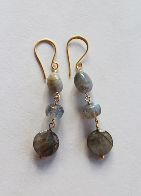 Labradorite Trio Earrings - The Lorna Earrings