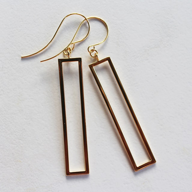 Gold Bar Earrings - The Pilar Earrings