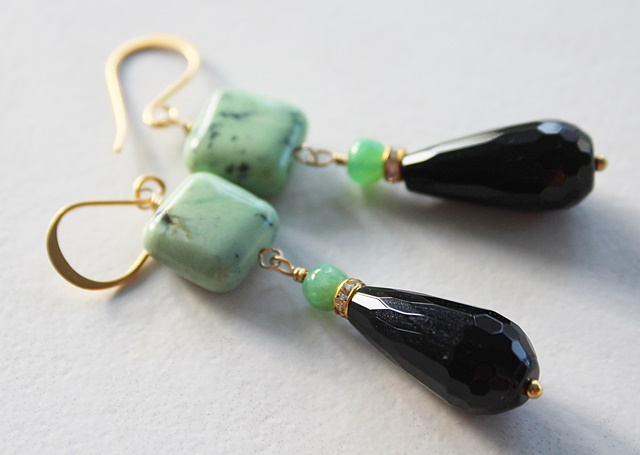 Chrysoprase Drop Earrings - The Abby Earrings