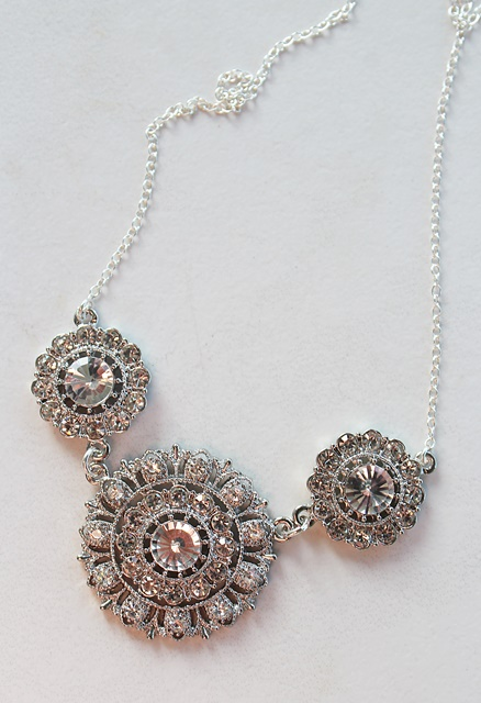 Rhinestone Trio Necklace - The Gladys Necklace