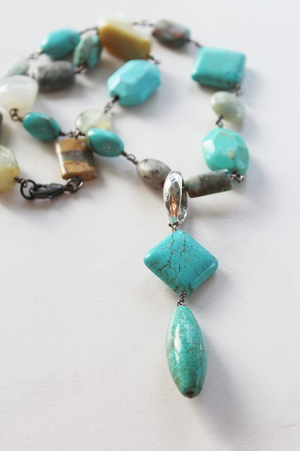 OOAK Mixed Gemstone Necklace - The Prescott Necklace