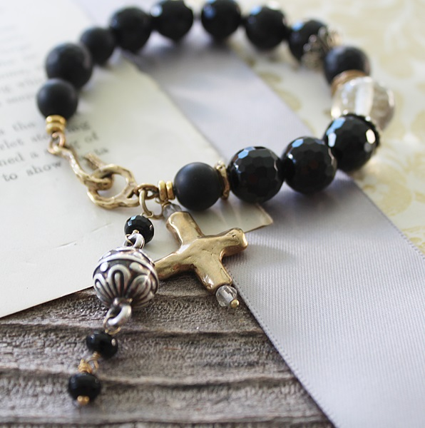 Black Onyx Beaded Bracelet - The Zoey Bracelet