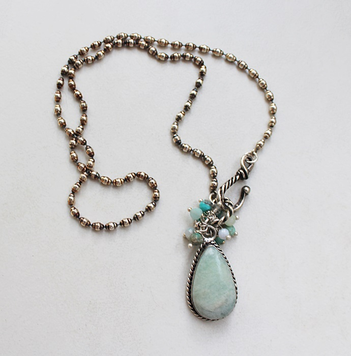 Amazonite Cluster Necklace - The Rae Necklace