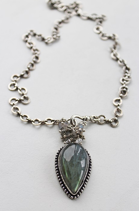 Labradorite Cluster Necklace - The Cary Necklace