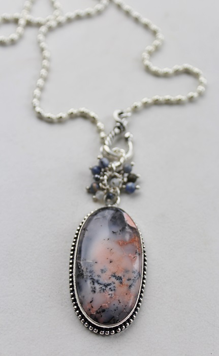 Sodalite Cluster Pendant Necklace - The Sharon Necklace