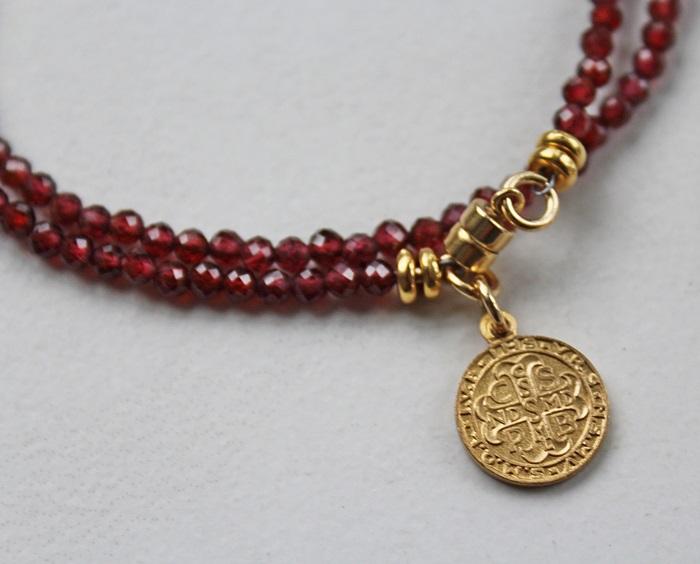 Assorted Gemstone Double Wrap Bracelets - The Benedictine Bracelet