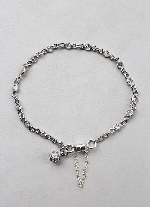 Sterling Silver CZ Bracelet - The Katherine Bracelet