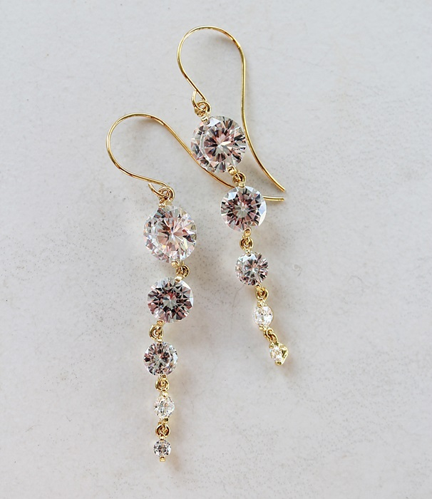 Waterfall CZ Earrings - The Jillian Earrings