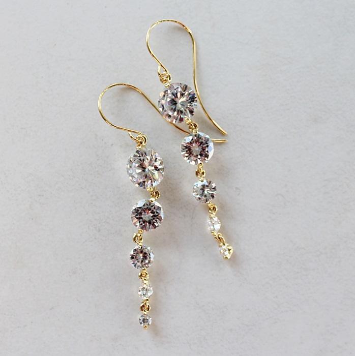 Waterfall CZ Earrings - The Jillian Earrings