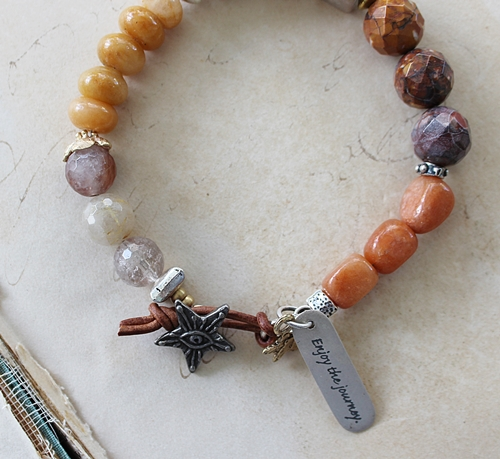 Agate and Carnelian Bracelet - The Journey Bracelet