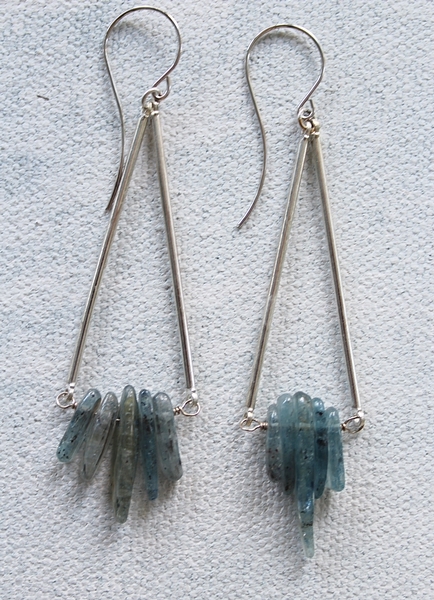 Kyanite Point Earrings