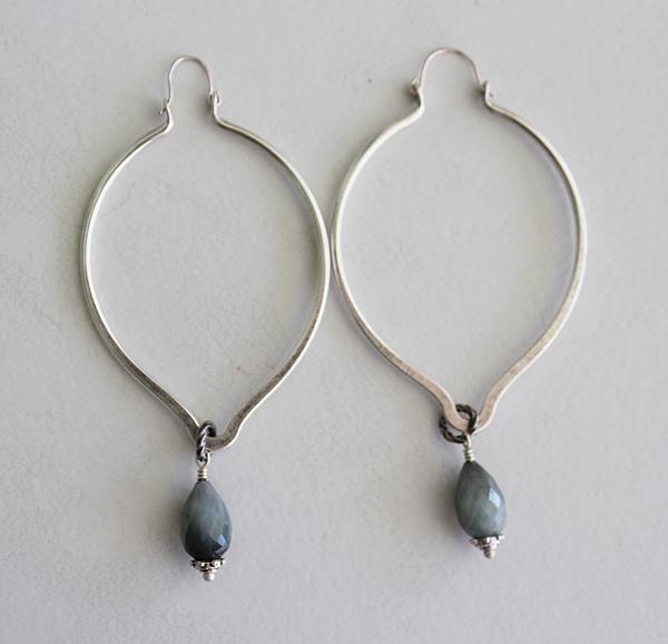 Labradorite Hoop Earrings - The Shari Earrings
