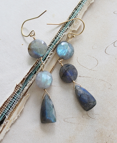 Labradorite Trio Earrings - The Elise Earrings