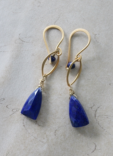 Lapis Drop Earrings - The Corey Earrings