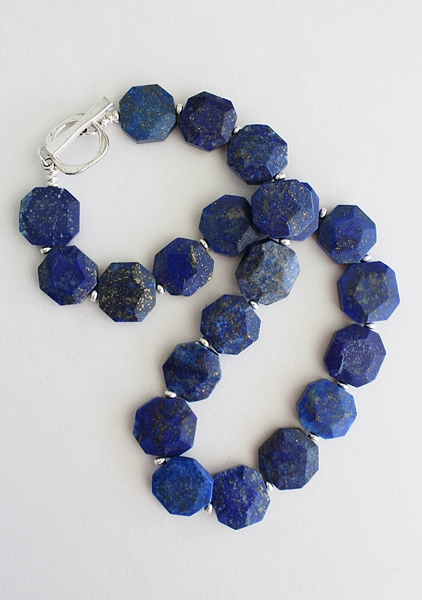 Lapis Octagon Necklace - The Daria Necklace