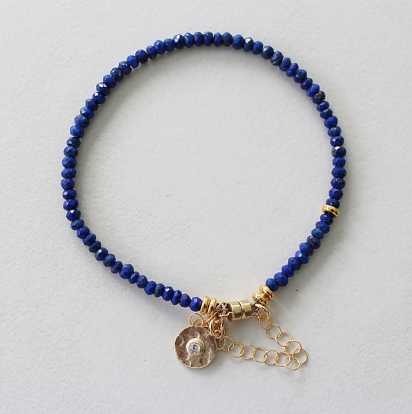 Lapis  Skinny Bracelet - The Tonya Bracelet