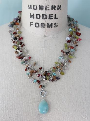 3 or 4 Strand Mixed Gem Necklace - The Nova Necklace