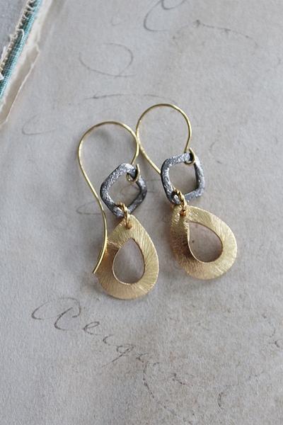 Mixed Metal Earrings - The Sylvie Earrings