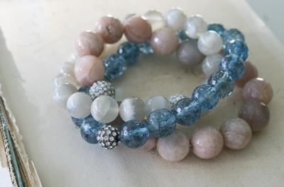 Semi-precious Stone Stretch Bracelets