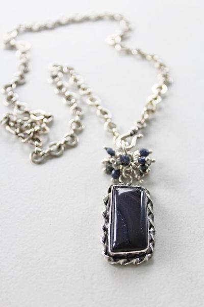 Assorted OOAK Sterling Silver Pendant Necklace Set (1)