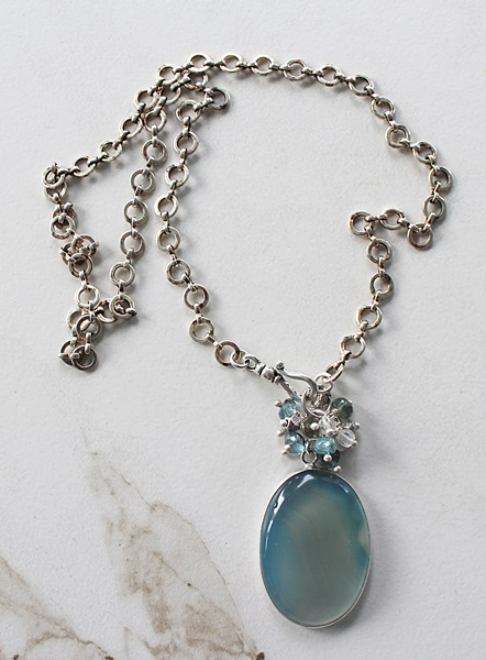 Assorted OOAK Sterling Silver Pendant Necklace Set (2)