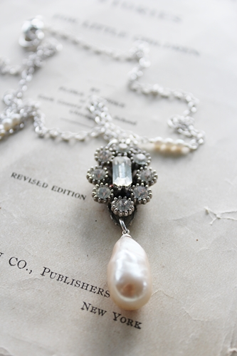 Vintage Pearl Drop Necklace
