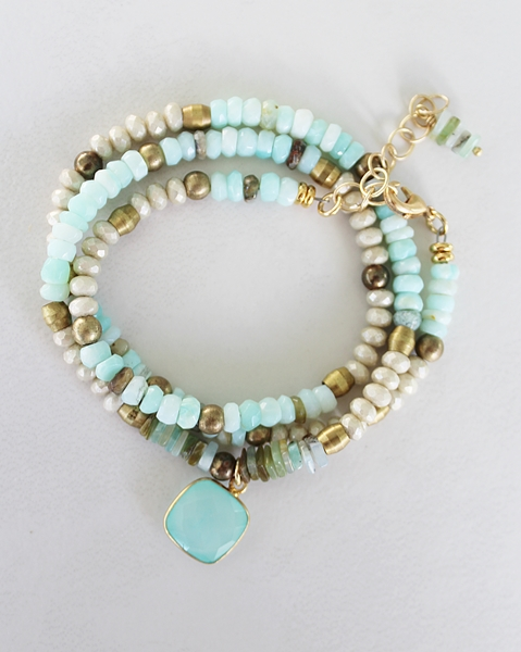 Peruvian Opal Convertible Bracelet/Necklace - The Corey Bracelet/Necklace