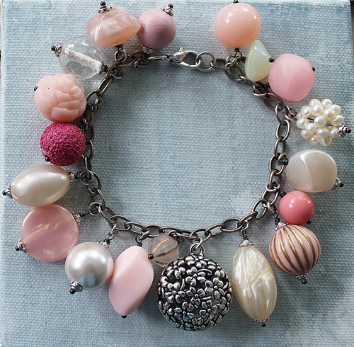 Market Day Trinket Bracelet - Pink and Cream