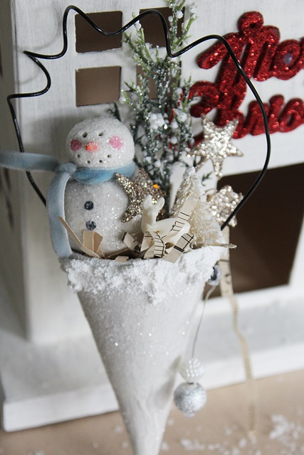 Holiday POP-UP Shop - Snowman in a Cone