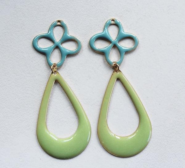 Resin Hoop Combo Earrings - The Summertide Earrings