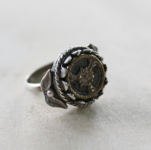 Victorian Button Ring