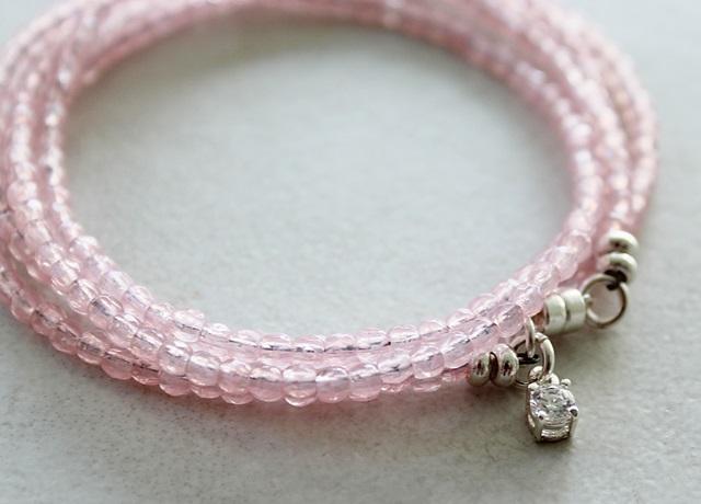 Spring Pink Quad Wrap Bracelet - The Petunia Bracelet