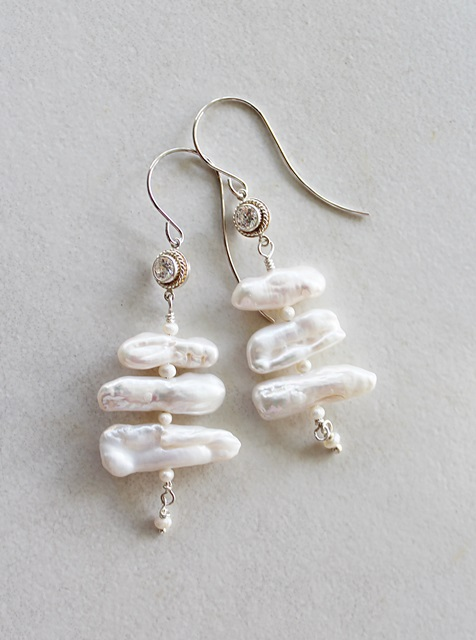 Fresh Water Biwa Pearl Earrings - The Lina Earrings