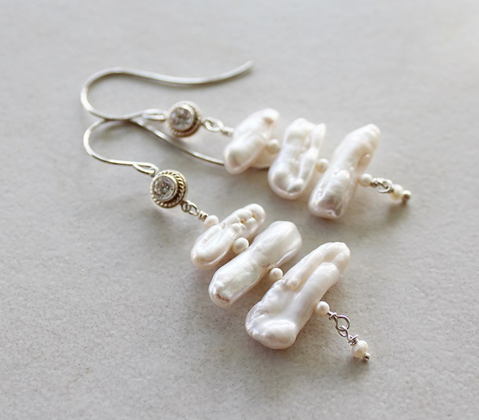 Fresh Water Biwa Pearl Earrings - The Lina Earrings