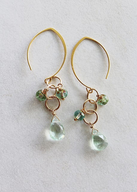Fluorite Dangle Earrings - The Donegal Earrings