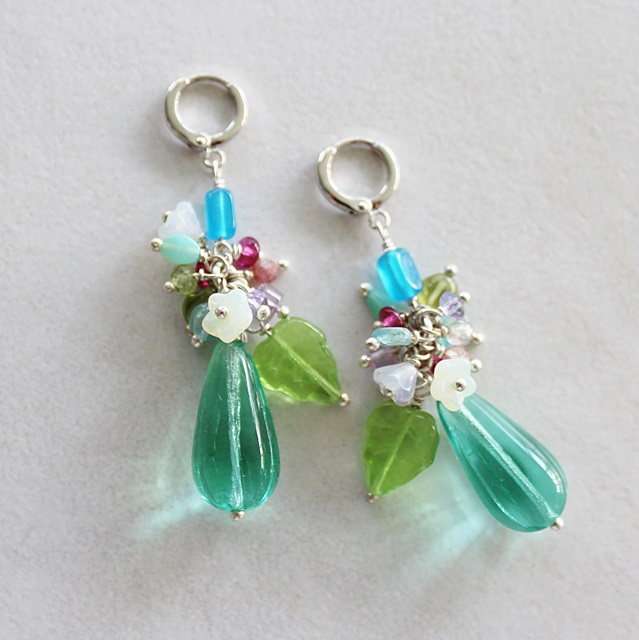 Mixed Glass Spring Earrings - The Bouquet Earrings