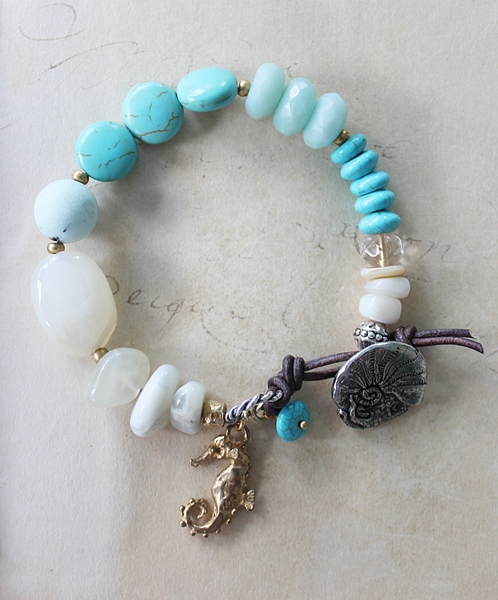 Mixed Gem Beach Bracelet - The Hanalei Bay Bracelet