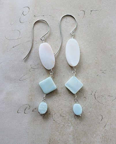 Mother of Pearl Shell Earrings - The Seychelle Earrings