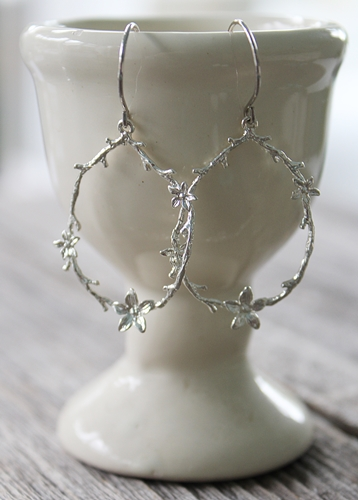 Flower Hoop Earrings - The Cara Earrings