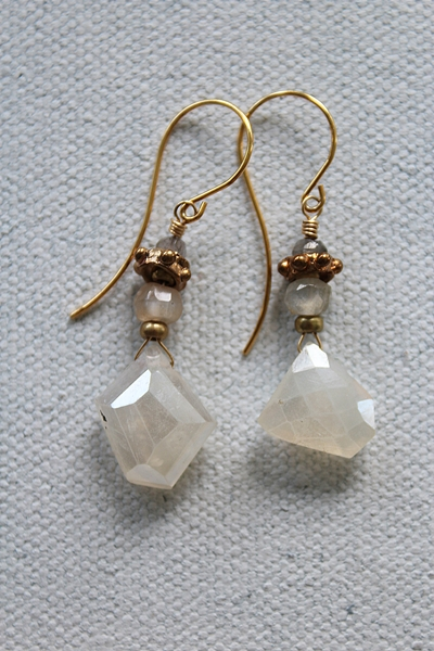 Silverite and Labradorite Earrings