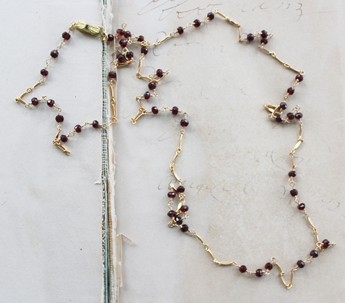 Garnet Simple Necklace - The Char Necklace