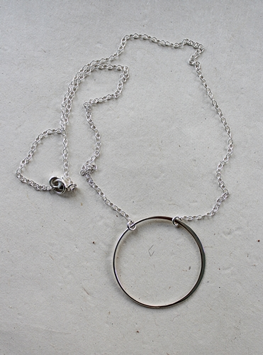 Sterling Silver O Necklace - The Oh Necklace