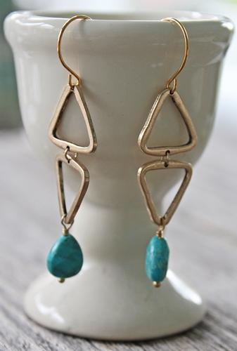 Sleeping Beauty Triangle Earrings - The Marissa Earrings
