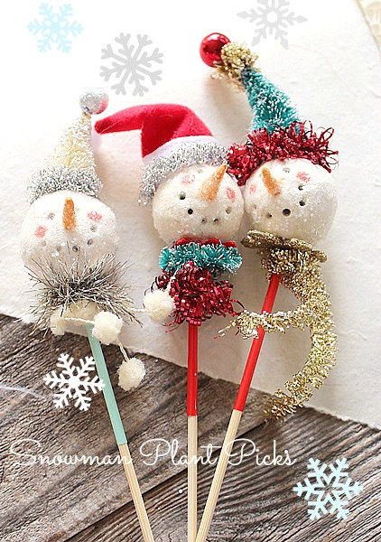 Snowman on a Stick/Package Topper