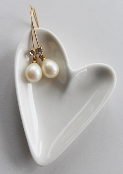 Vintage Pearl and CZ Earrings - The Valerie Earrings